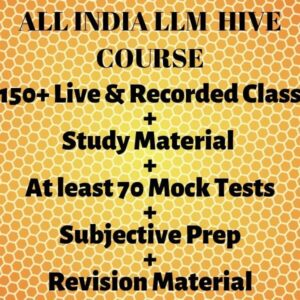 ALL INDIA LLM-HIVE COURSE 2021