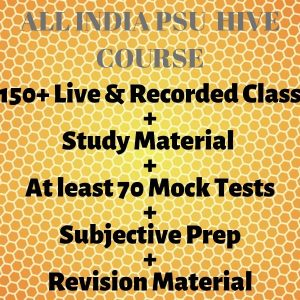ALl INDIA PSU-HIVE COURSE 2021