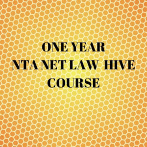 UGC-NET LAW LONG HIVE COURSE