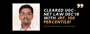 UGC-NET LAW INTERVIEW : AMITESH DESHMUKH