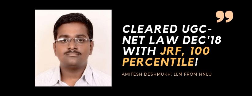 UGC-NET LAW INTERVIEW : AMITESH DESHMUKH