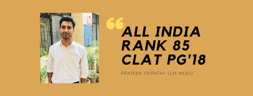 CLAT LLM INTERVIEW: PRATEEK TRIPATHI