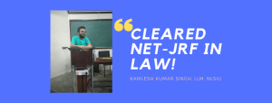 NTA NET-JRF LAW INTERVIEW: KAMLESH KUMAR SINGH
