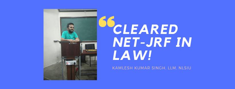 NTA NET-JRF LAW INTERVIEW: KAMLESH KUMAR SINGH
