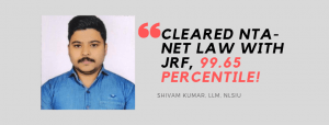 NTA NET-JRF LAW INTERVIEW: SHIVAM KUMAR