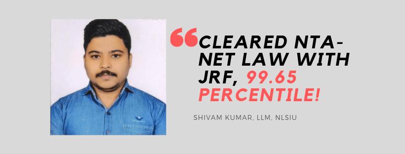 NTA NET-JRF LAW INTERVIEW: SHIVAM KUMAR