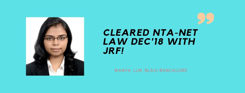 NTA NET LAW INTERVIEW : MANYA