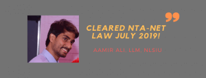 NTA NET LAW INTERVIEW: AAMIR ALI