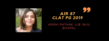 CLAT LLM 2019 INTERVIEW: AROHI PATHAK