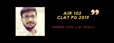 CLAT PG 2019 INTERVIEW: AMBER JAIN