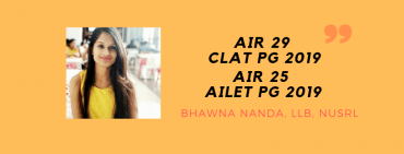 CLAT PG 2019 INTERVIEW: BHAWNA NANDA