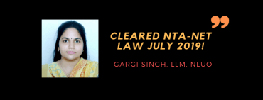 NTA-NET LAW 2019 INTERVIEW: GARGI SINGH