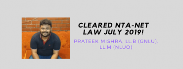 NTA NET LAW INTERVIEW: PRATEEK MISHRA